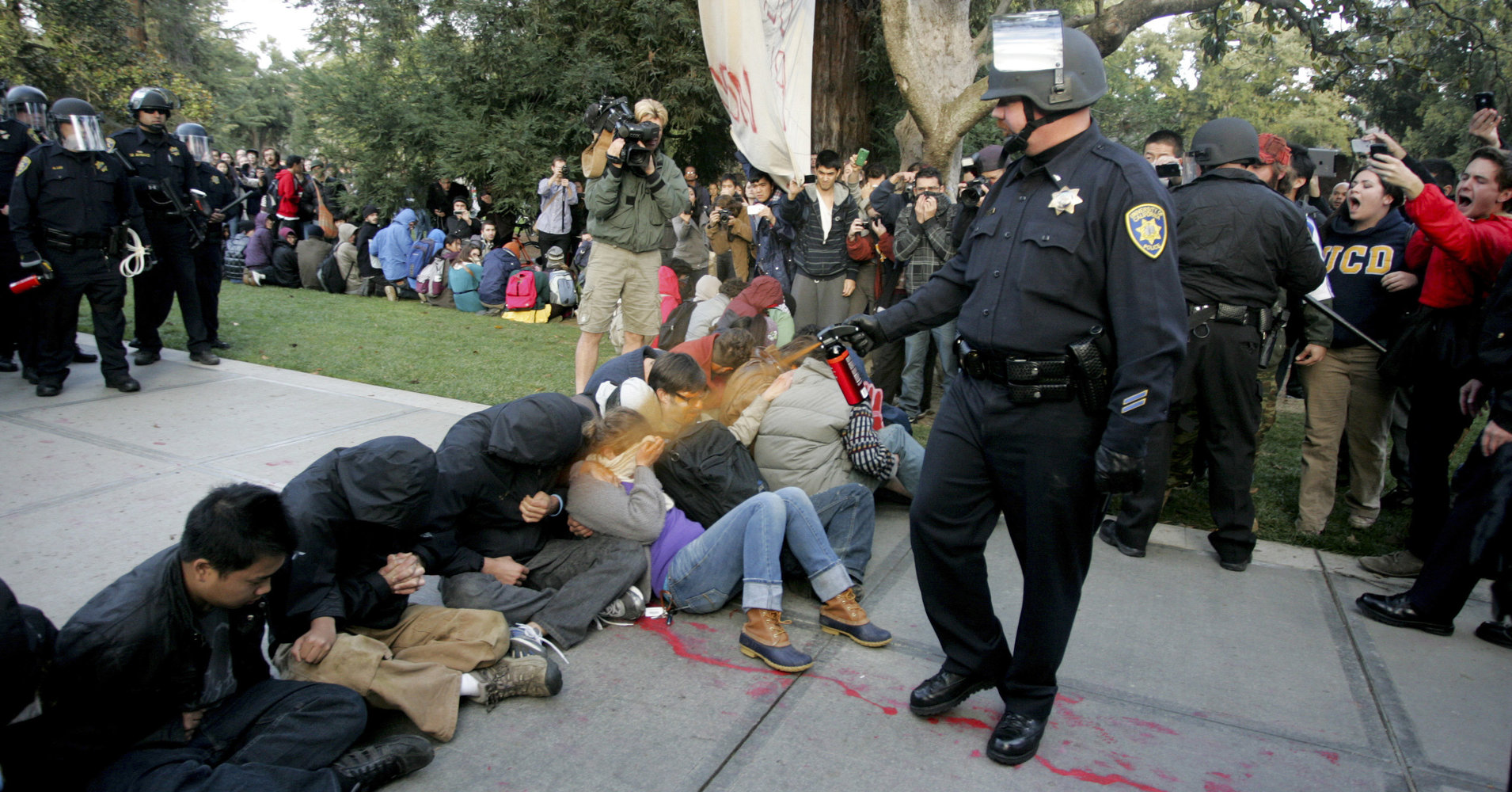 """Pepper Spray Cop"" at UC Davis"